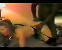 Amateur interracial porn clip! Black Master white slut