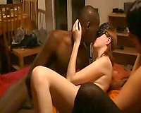 Interracial French group sex video black man fucking with pussies