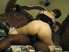 BBW wife fucked by a black guy in front of cuckold husband.