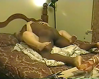 Second part of this amazing cuckold video with BBW cuckold wife fucking black cock.