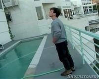 Pool dude goes down on lean body dark babe