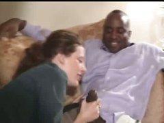 Whore wife humiliates husband with black dick