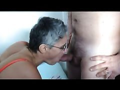 Sexy Amateur Granny Wife Fucked by Several Men at Sex Party