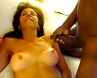 Two black dicks for a wife! Love to pound white pussy – group interracial sex
