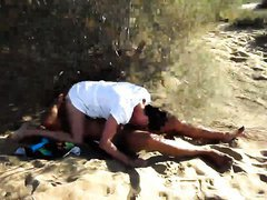 Slutty wife Gail cuckolding in the Dunas of Maspalomas. Cuckold films and dogging