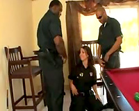 Fucking the dark cops in a group sex