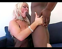 Interracial fuck with a slutty golden-haired mother I'd like to fuck