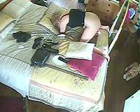 Slutty wife Kneel up, rabbit, hidden masturbation...