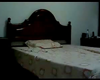 My WIFE visiting us masturbates in guest room. Hidden cam