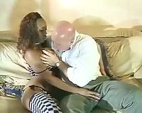 Nice interracial fuck scene