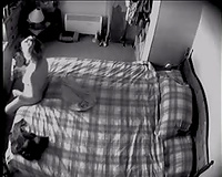 wife masturbating on hidden camera plays with new rabbit vibe and cums very quickly