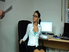 Secretary role play with a messy wife who can't live without to please this guy