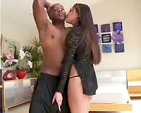 Big jock all up for interracial anal