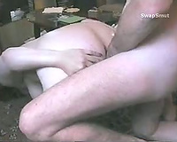 Fucking the hotwife in the booty with a little butter for lubrication
