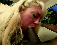 Milf golden-haired goes interracial