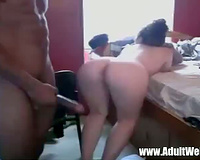Amateur Interracial WebCam Live Sex or Wife Fucked from Behind by BBC