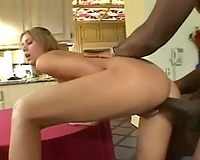 Hot BBC slut has interracial sex