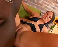 Hot interracial 3some with sweetheart