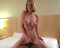 White wife in admirable interracial