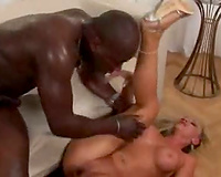 Fair breasty golden-haired Francesca Felucci acquires dinged hard with a black dong