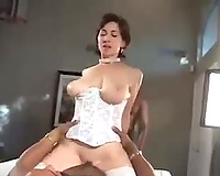 Cogar MiLF or Busty wife cheats in interracial porn video