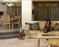 Sofia Gucci interracial on the sofa