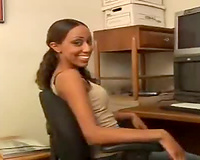 Interracial office fucking session with hawt swarthy
