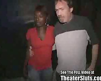 Dirty D gangbangs Latoya in an interracial in theater doxies