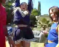 Cheerleader Orgy With Black Dicks