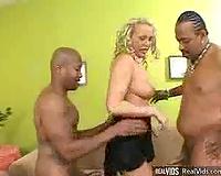 Caught Between Two Big Black Cocks