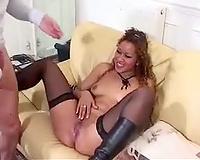 French Black Babe Banged