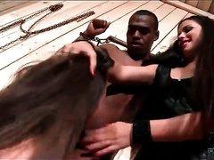 Mistress receives sub whore to engulf a knob