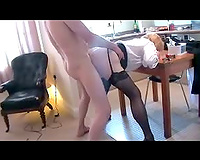 SlutWife gets deep hard shafting over the kitchen table