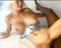 Nasty blond drilled in interracial act