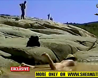 My slutty wife exib on the rocks and on the beach