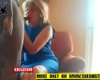 Older SLUT WIFE gets fucked by her black lover