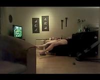 Slutty wife caught enjoying herself at porno
