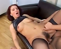 Hairy Milf drilled hard