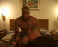 Cuckold husband shares his wife with black studs