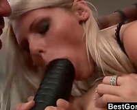 Two Sluts, Two Big Cocks and One Huge Dildo