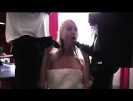 Slut bride fucks two black cock or After the wedding, you and your bride retired to the suite