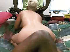 Slutty short haired blonde wife shared for fucking with black men.