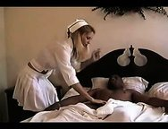 Sexy nurse loves interracial sex or His big black dick is going to destroy my little pussy!