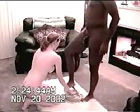 Amateur British housewife first tries big black cock in mouth