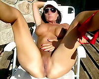 Amazing Hot Mature Wife Naked Outside Filmed by Husband