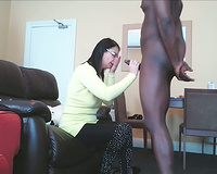 Seems your wife got nothing to do all day but suck black cock!