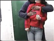 Having dirty sex in public place on amateur sex video