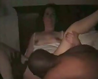 Big black man with huge dick pleases my wife completely