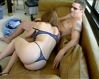 Slutty secretary gets her big white ass spanked by her boss