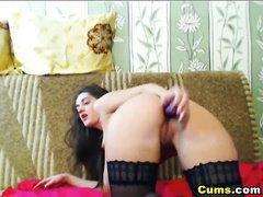 Babe Dildo Fucks her Pussy Hard